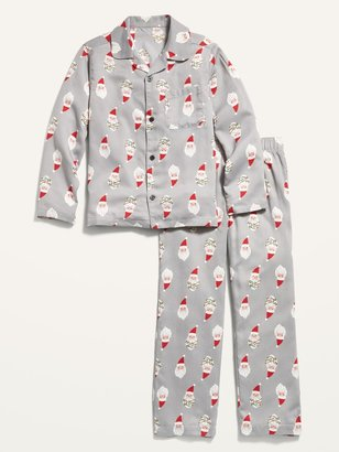 Old Navy Patterned Gender-Neutral Flannel Pajama Set for Kids