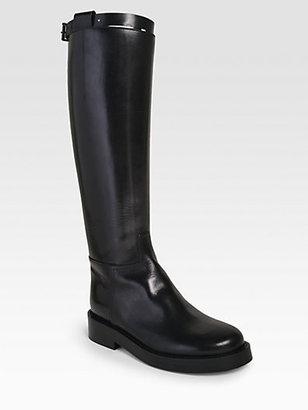 Ann Demeulemeester Calf Wrap Equestrian Boot