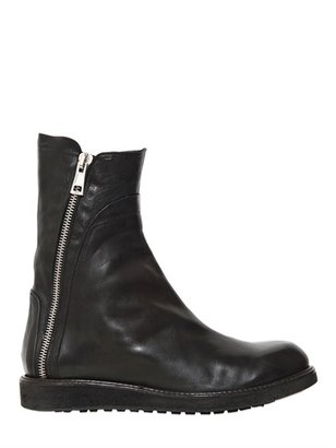 Cinzia Araia Zip Up Leather Biker Boots