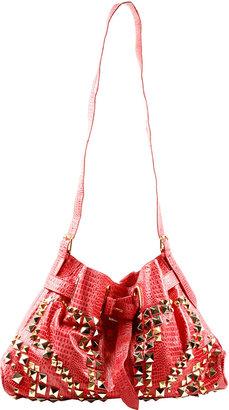 Le'Bulga Studded Leather Shoulder Bag