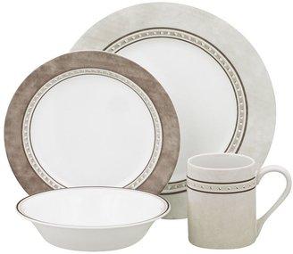 Corelle impressions pewter 16-pc. dinnerware set