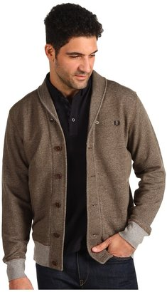Fred Perry Shawl Collar Button Through Cardigan (Arbor Marl) - Apparel