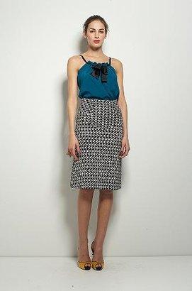 Crosley Skirt in Cubist Dot Black