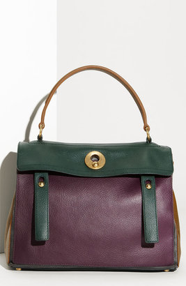 Yves Saint Laurent 'Muse Two' Leather & Suede Satchel