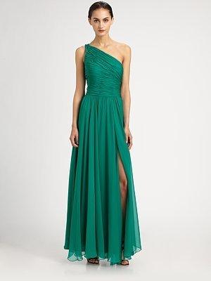 Halston Chiffon Gown