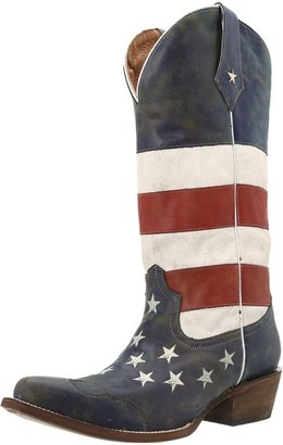 Roper Women's American Flag Snip Toe