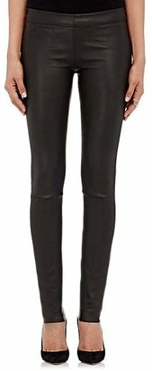 The Row Women's Stretch-Leather Leggings - Black