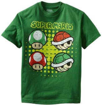 Nintendo Boys 8-20 Mushroom and Shell Short Sleeve Tee