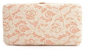 Charlotte Russe Lace Overlay Hinge Wallet