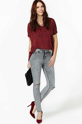 Nasty Gal Can't Fade Me Skinny Jeans
