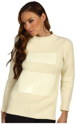 Tibi Techno Sweaters Funnel Neck (Cream) - Apparel