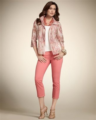 Chico's Double Print Carin Jacket
