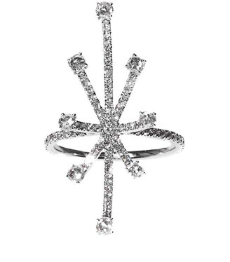 Susan Foster White-diamond & white-gold starburst ring