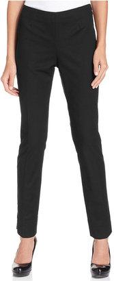 Ellen Tracy Slim-Leg Side-Zip Pants