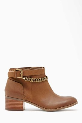 Nasty Gal Shoe Cult Gramercy Chained Ankle Boot - Brown