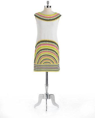 Maggy London Zigzag Print Jersey Dress