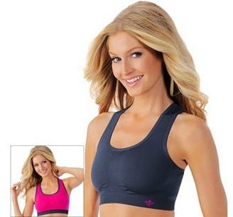 Lily of France Bra: Reversible Medium-Impact Sports Bra: 2151801 $36 thestylecure.com