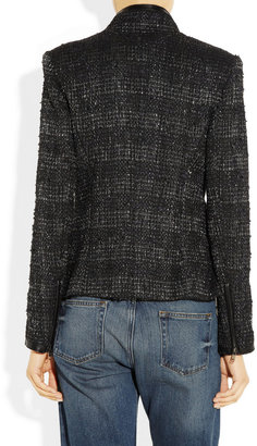 Theyskens' Theory Metallic-weave bouclé jacket