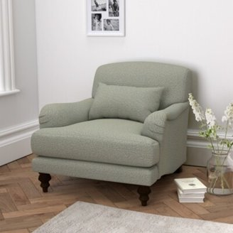 The White Company Petersham Armchair Wool, Light Grey Wool, One Size