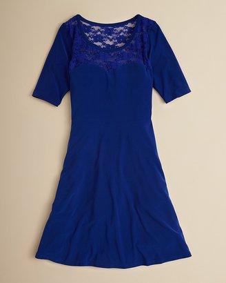 Un Deux Trois Girls' Swingy Lace Dress - Sizes 7-16