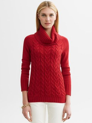 Banana Republic Cable-knit turtleneck sweater