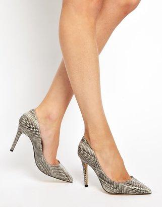 Aldo Baulch Snake Print Natural Heeled Court Shoes