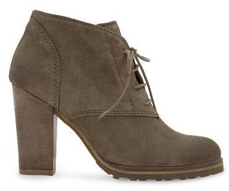 MANGO Lace-up suede ankle boots