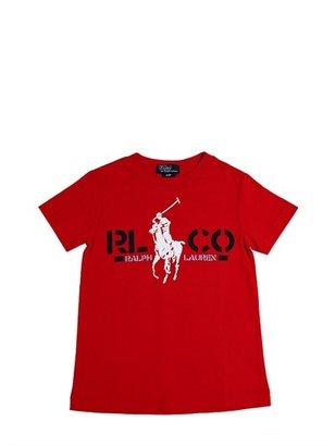 Ralph Lauren Logo Print Cotton Jersey T-Shirt