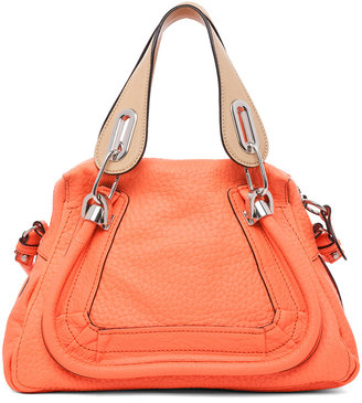 Chloé Paraty Small Leather Shoulder Bag in Orange Fizz