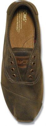 Toms Brown Waxed Twill Men's Cordones