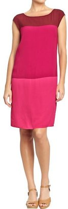 Old Navy Women's Crepe Color-Blocked Shift Dresses