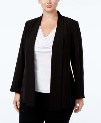 Calvin Klein Plus Size Open-Front Soft Jacket $139 thestylecure.com