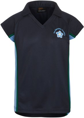 Unbranded Belvedere Academy Girls' School PE Polo Shirt, Navy/Multi