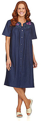 Go Softly Patio Floral Denim Patio Dress