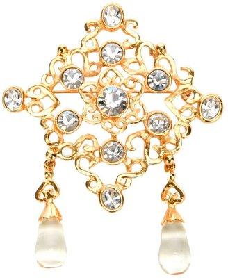 Inès De La Fressange cut glass brooch