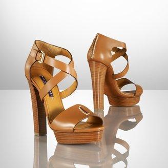 Ralph Lauren Sharie Calf Platform Sandal