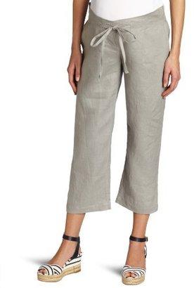 Ripe Maternity Women's Pure Linen Cropped Pant
