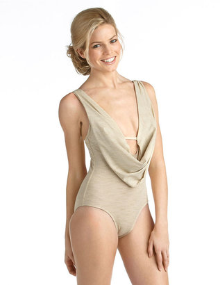 Luxe by Lisa Vogel Opening Night Draped One-Piece Swimsuit