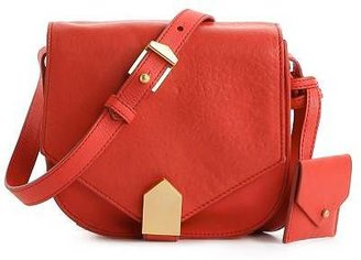 Allibelle Leather Flap Cross Body Bag