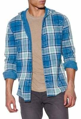 John Varvatos Grayson Hooded Reversible Button-Down Shirt