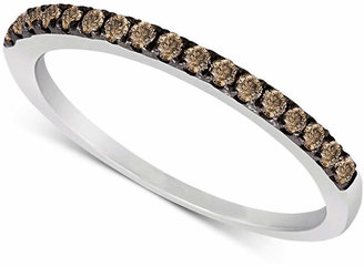 Le Vian Chocolate Diamond Pave Band (1/4 ct. t.w.) in 14k White or Rose Gold $1,101 thestylecure.com