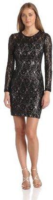 Jax Women's Long-Sleeve Lace Dress