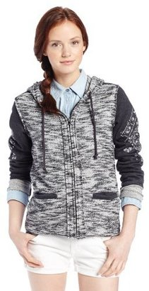 Miss Me Heather Studded Knit Zip Up Hoodie
