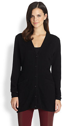 Lafayette 148 New York Cashmere Long Cardigan