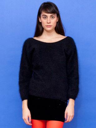 Esprit Vintage Deep V Back Angora Sweater