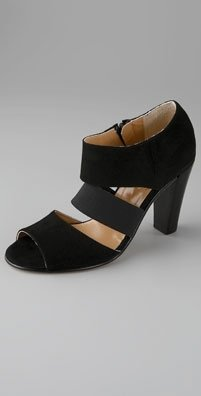 Opening Ceremony Elastic Strap Open Toe Ankle Bootie