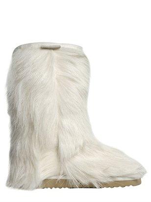 Mou Goat Fur Short Boots