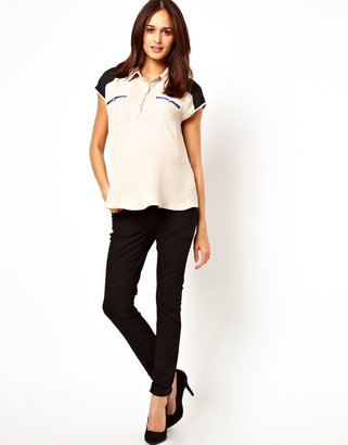 Asos Shirt with Color Block Panels and Pocket