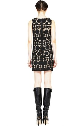 Alice + Olivia Dot Sleeveless Shift Dress
