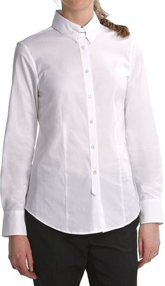 Paperwhite Latch Collar Shirt - Stretch Cotton, Long Sleeve (For Women)